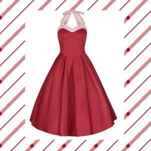 Lindy Bop Carola red swing dress